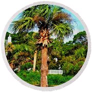 Tybee Palm Round Beach Towel