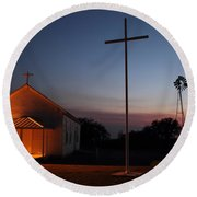 Tye Church 2am-104799 Round Beach Towel