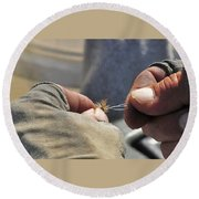 Tying Flies For Snake River Cutthroat Trout Round Beach Towel