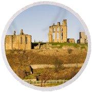 Tynemouth Priory And Castle Round Beach Towel