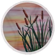 Typha Round Beach Towel