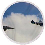 Typhoon V Spitfire Round Beach Towel