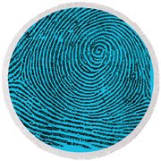 Typical Whorl Pattern, 1900 Round Beach Towel by Science Source