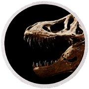 Tyrannosaurus Rex Skull 4 Round Beach Towel