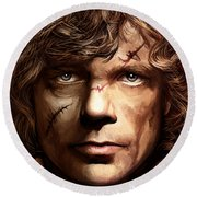 Tyrion Lannister - Peter Dinklage Game Of Thrones Artwork 2 Round Beach Towel