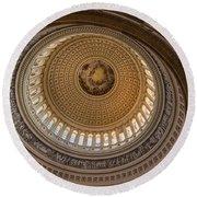 U S Capitol Rotunda Round Beach Towel
