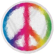 Uber Peace Round Beach Towel