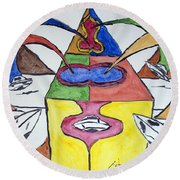 Ufo Base Round Beach Towel