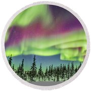 Ultrawide Aurora 4 - Feb 21, 2015 Round Beach Towel