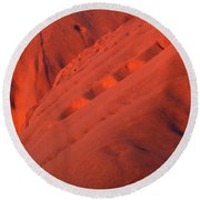 Uluru 1 Round Beach Towel