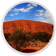 Uluru Central Australia Round Beach Towel