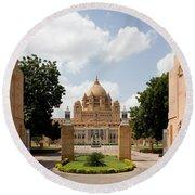 Umaid Bhawan Palace, India Round Beach Towel