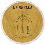 Umbrella Patent 1 Round Beach Towel