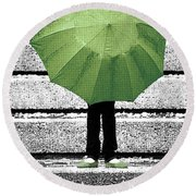Umbrella Trio Round Beach Towel