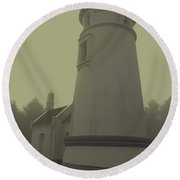 Umpqua Lighthouse 2 Round Beach Towel
