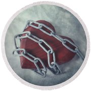 Unchain My Heart Round Beach Towel