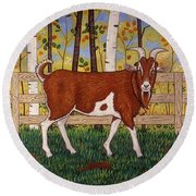 Uncle Billy's Goat Round Beach Towel