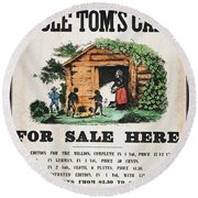 Uncle Tom's Cabin, C1860 Round Beach Towel