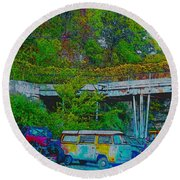 Uncle Tom's Toybox Painted 2 Round Beach Towel