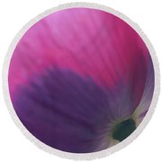 Under Poppy Round Beach Towel