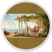 Under The Arbour Round Beach Towel