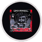 Under The Black Flag Poster 1916 Color Added 2013 Round Beach Towel