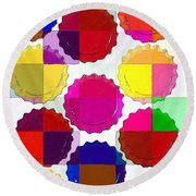 Under The Blanket Of Colors Round Beach Towel