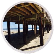 Under The Boardwalk Round Beach Towel
