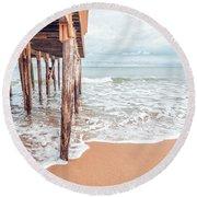 Under The Boardwalk Salsibury Beach Round Beach Towel