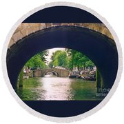 Under The Canals Round Beach Towel