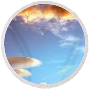 Under The Desert Sky Palm Springs Round Beach Towel