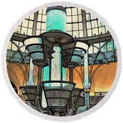 Under The Dome Round Beach Towel