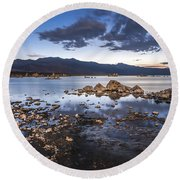 Under The Light Of The Full Moon Round Beach Towel