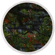 Under The Old Oak Tree Round Beach Towel