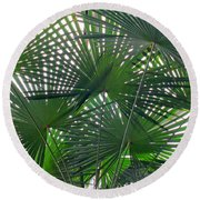 Under The Palm Tree Round Beach Towel