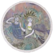 Under The Sea Round Beach Towel by Amelia Carrie