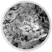 Under The Sea Ceiling Round Beach Towel
