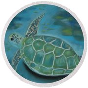 Under The Sea Round Beach Towel by Mary Benke