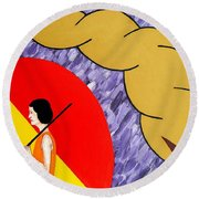 Under The Shelter Of Your Love Round Beach Towel by Patrick J Murphy