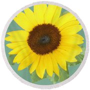 Under The Sunflower's Spell Round Beach Towel