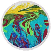 Undersea Shadows Round Beach Towel