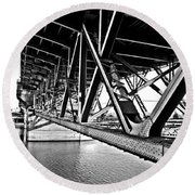 Underside Of The Burnside Bridge Round Beach Towel