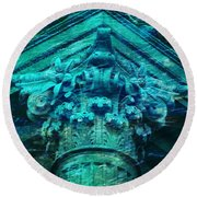 Underwater Ancient Beautiful Creation Round Beach Towel
