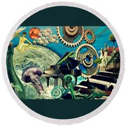 Underwater Dreams Round Beach Towel
