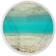 Underwater Sand Beach Round Beach Towel