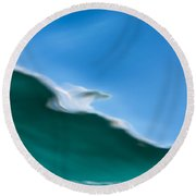 Underwater Shot Through Surface Color Abstract Round Beach Towel
