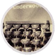 Underwood Round Beach Towel