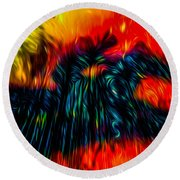 Unexpected Riders Vision Round Beach Towel
