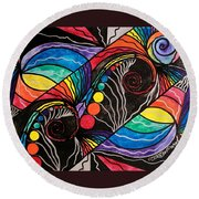 Unfold Round Beach Towel by Teal Eye  Print Store