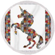 Unicorn Horse Showcasing Navinjoshi Gallery Art Icons Buy Faa Products Or Download For Self Printing Round Beach Towel